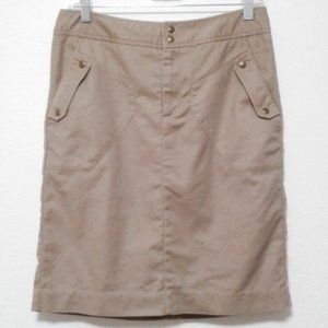 3/$25 Worthington khaki utility skirt metal stud